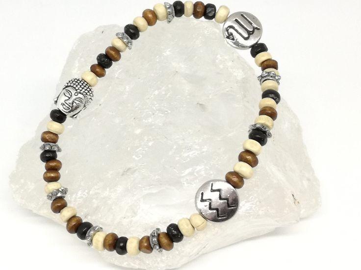 Armbänder - Armband Buddha Holzarmband Männerarmband  - ein Designerstück von Tines-creative-Welt bei DaWanda