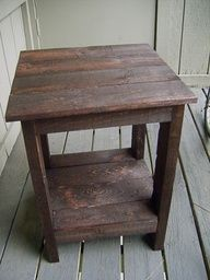DIY Pallet End Table...would look nice in the living room. I need to have Jack make these and a coffee table.
