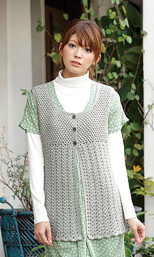 Pochette Tunic by Pierrot (Gosyo Co., Ltd) Free crochet pattern - pattern is Japanese but fully charted using standard crochet symbols.