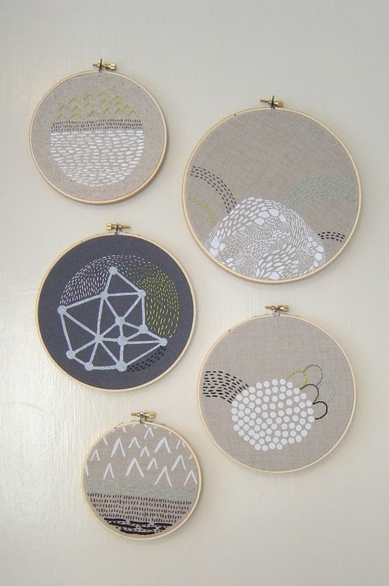 beautiful, simplistic embroidery