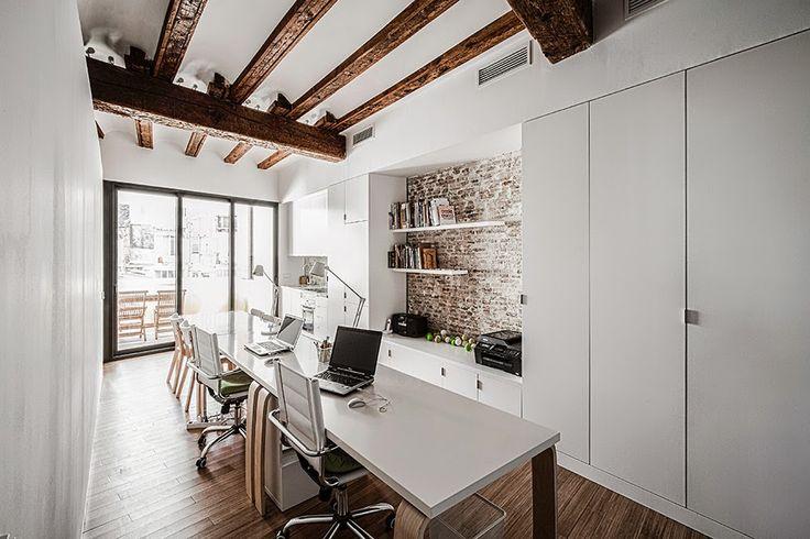 Blog wnętrzarski - design, nowoczesne projekty wnętrz: Jak urządzić nowoczesne biuro - pracownia architektoniczna (Hiszpania)