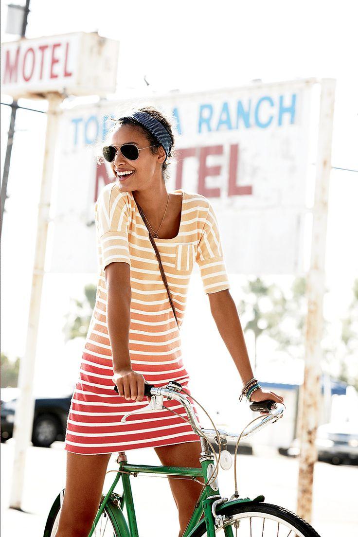 Ombre stripes.: Summer Fashion, Summer Dresses, Beaches Dresses, Summer Outfit, Cute Dresses, Summer Style, The Dresses, Stripes Dresses, Summer Clothing