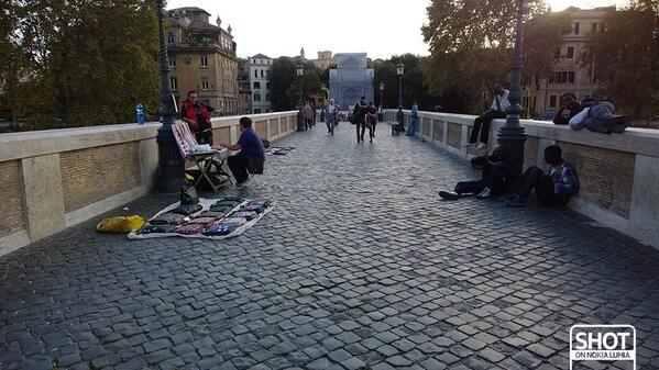 La città delle simmetrie... #Romaè #PonteSisto  Scatto di @Valentina Cinelli con @Nokia Italia  #Lumia1020