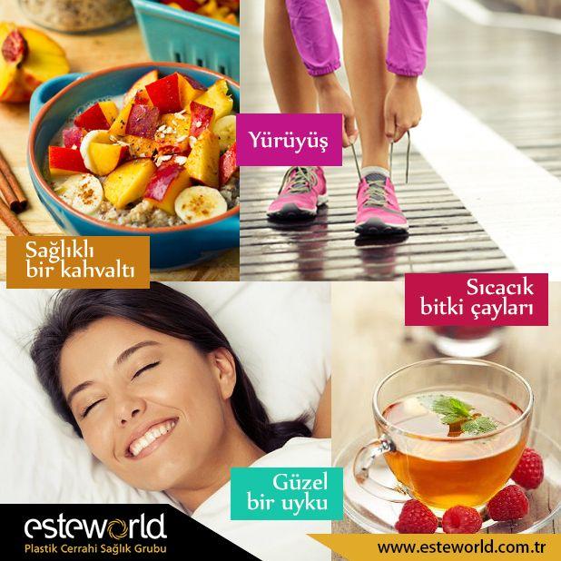 Yeni haftaya zinde başlamak için hafta sonu bunları yapabilirsiniz.  #esteworld #estedik #uyku #spor #diyet #sağlık #diet #fit #happy #love #mutluluk #yürüyüş #bitkiçayı