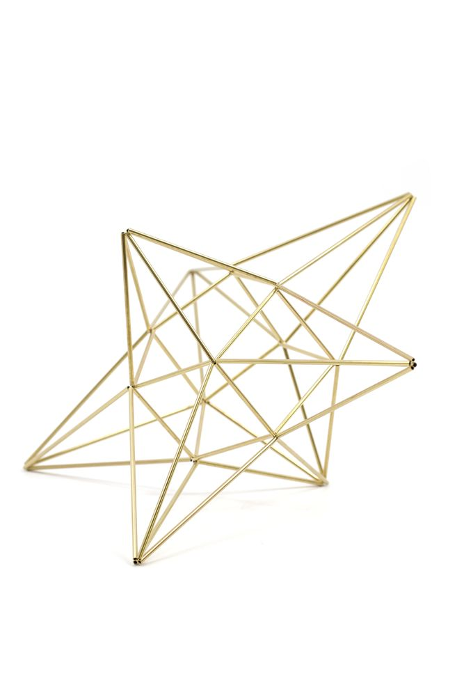 These gorgeous Himmeli by Handmade Sam*Made are an elegant year-round addition to any home or office. This intricate five-point star makes a great holiday decoration or hang it up to create a year-rou