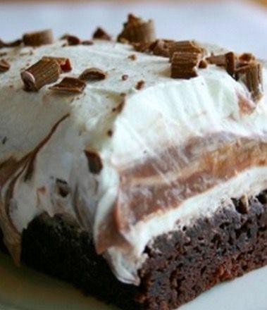 Brownie Refrigerator Cake - Recipe, Delicious Dessert