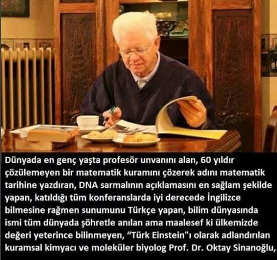 Oktay Sinanoğlu #Türk bilim adamı