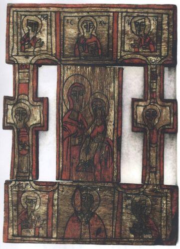 Icoană; Troiţă - Muzeul Naţional al Ţăranului Român - BUCUREŞTI (Patrimoniul Cultural National Mobil din Romania. Ordin de clasare: 2764/29.12.2010 - Tezaur)