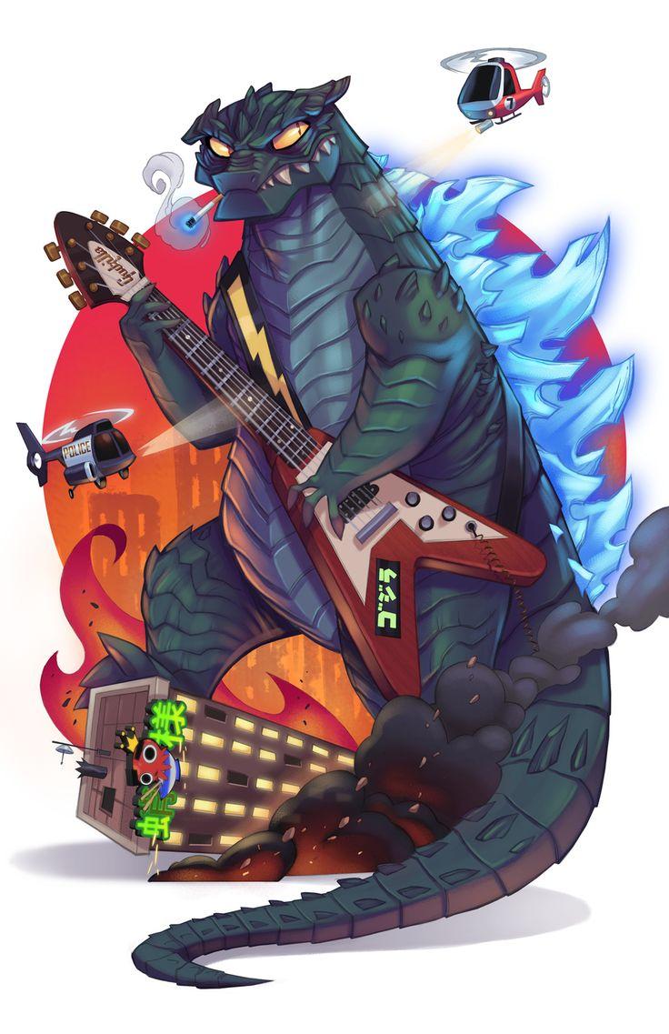 Godzilla Vs Speed Metal By Ghosthause Monster Mosh