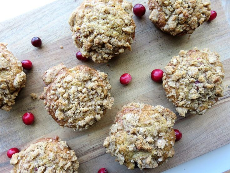 Apple Cranberry Crumb Muffins! The perfect fall combination!