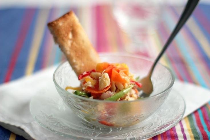 Chiquetaille a la Creole. Haitian Cod Fish Salad