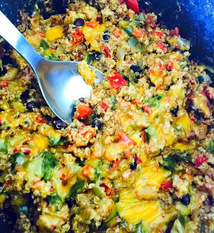 taco crock pot quinoa casserole