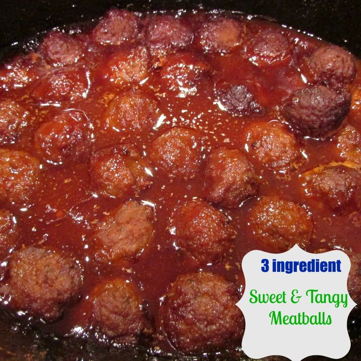 Crockpot Recipe: 3 ingredient meatballs! | Yummyyy | Pinterest | 3 ...