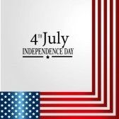 patriotic background : fourth july over gray background vector illustration