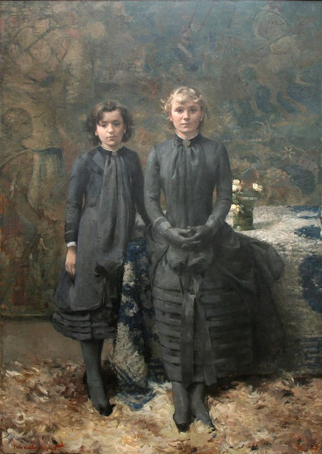 'The Sisters of the Painter Schlobach', Theo van Rysselberghe