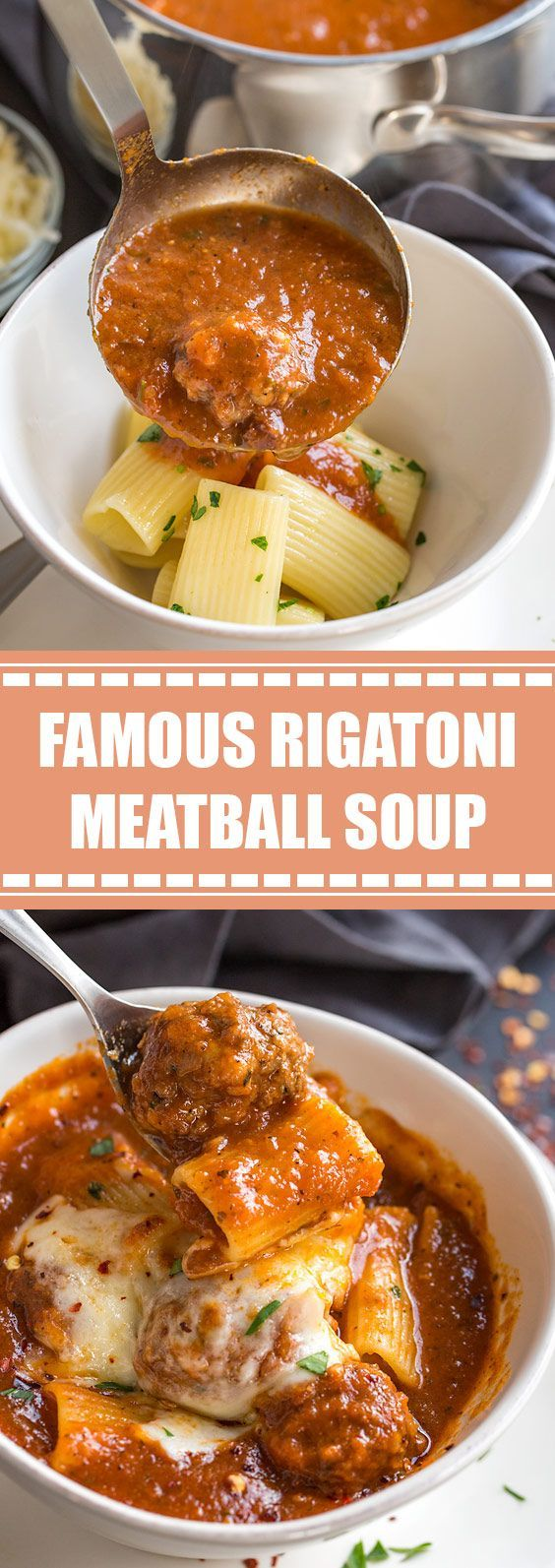 Mar 23, 2020 – ★★★★★ 58 reviews: Famous Rigatoni Meatball Soup | Rich and hearty, this comforting rigatoni meatball soup…