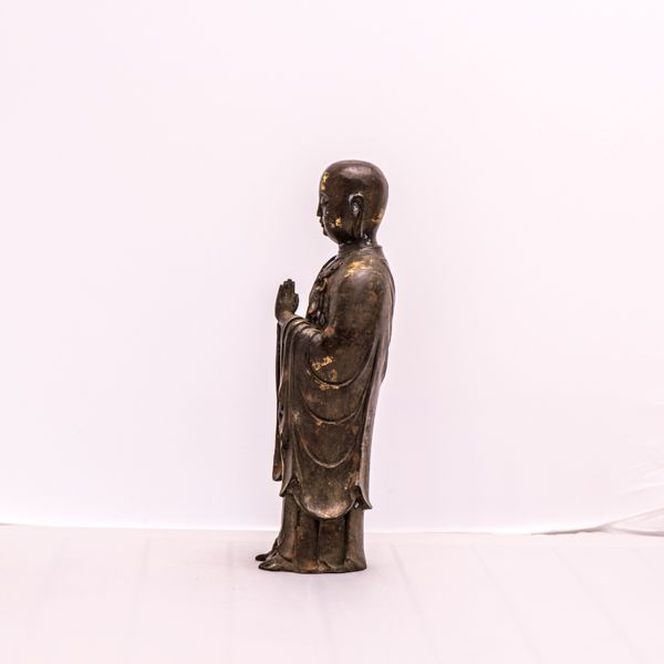 Buddha Figur  Ananda aus Bronze www.dixing-shop.de