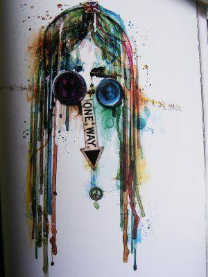 "Lennon, by amazing illustrator Pablo Bernasconi, from his book ""Portraits"""