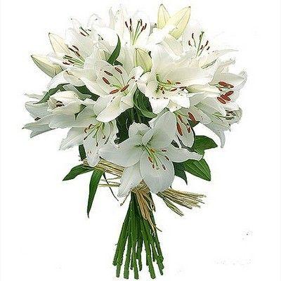 Букет состоит из 7 белых лилий и зелени  http://www.dostavka-tsvetov.com/shop/45/desc/zima