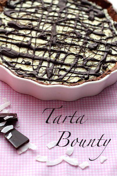 Czekoladowa tarta z kokosowym kremem i czekoladą
