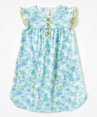 Аква Азалии Ангел-рукавом платье - Малыш и девушки