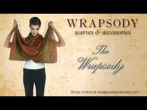 Wrapsody Scarves Tying Techniques - YouTube
