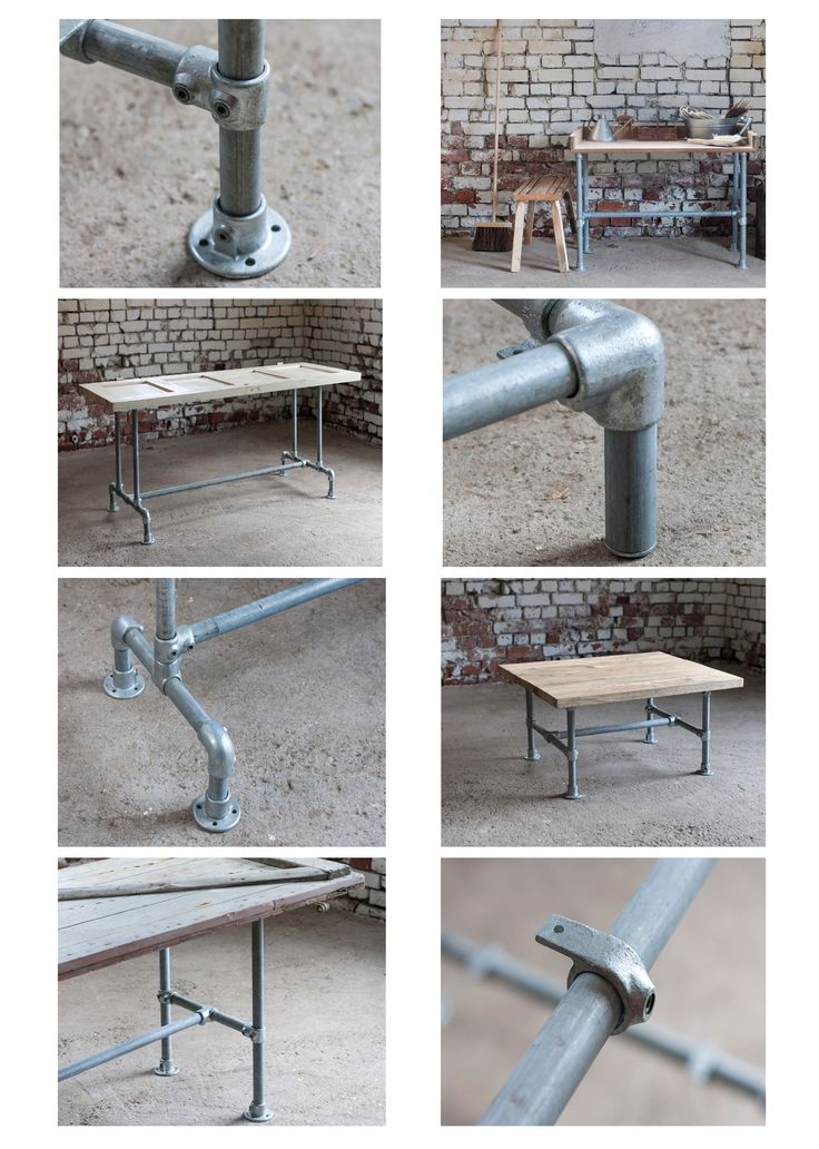 Valitse valmiista malleista tai suunnittele oma unelmien putkihuonekalu - Pipe furniture, tables, benches, anything you dream to create! Domus Classica Collection