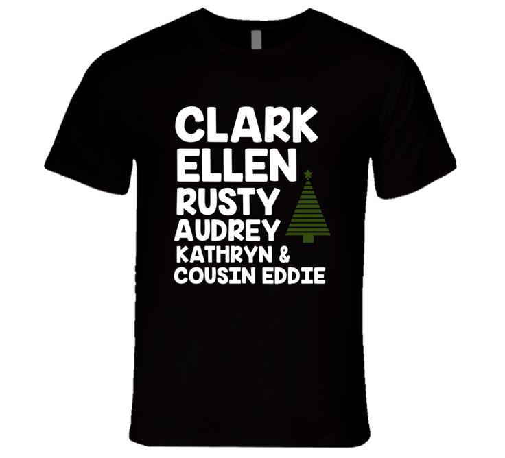 Christmas Vacation Clark Ellen Rusty Audrey Eddie Funny T-Shirt