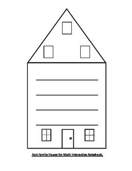 Free Fact Family House Printable Daily 5 Math