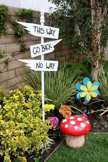 39 best alice in wonderland decor images on pinterest - Alice in wonderland outdoor decorations ...