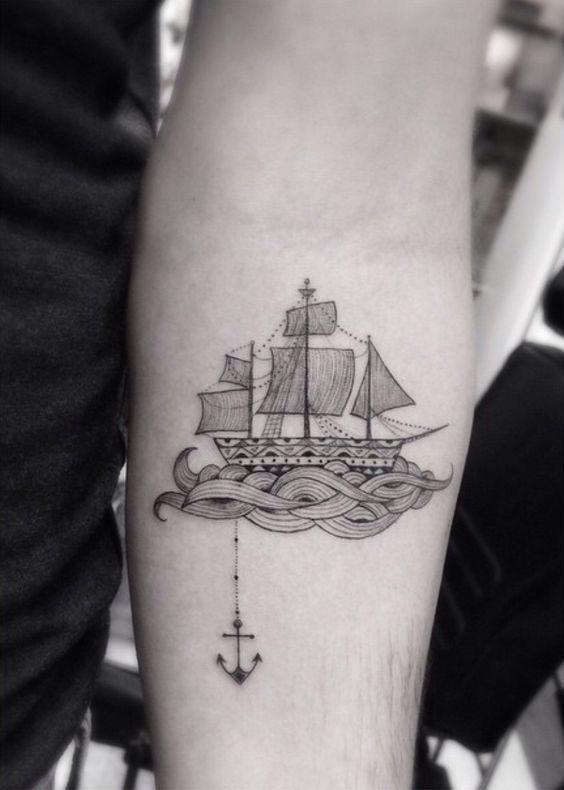 tatuajes populares barco                                                                                                                                                                                 Más