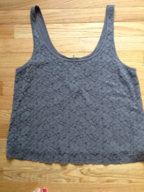 Gray lace American Eagle top, only worn once