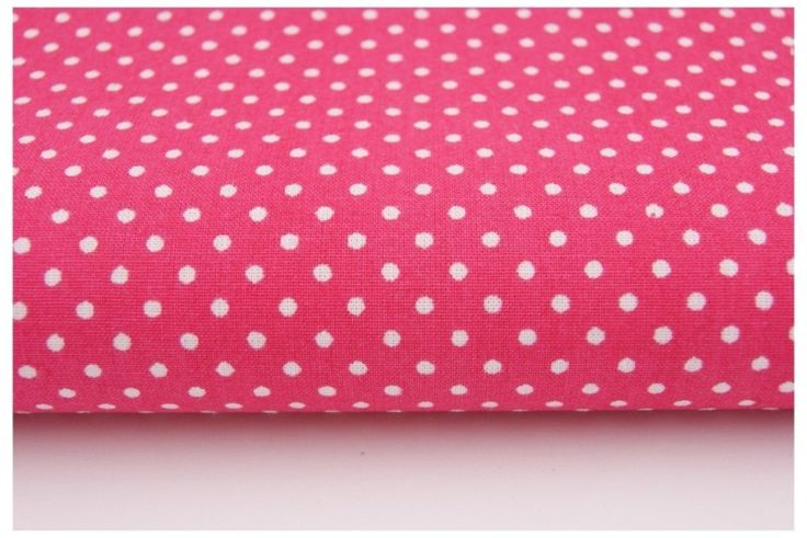 12. Mini polka dots on fuchsia