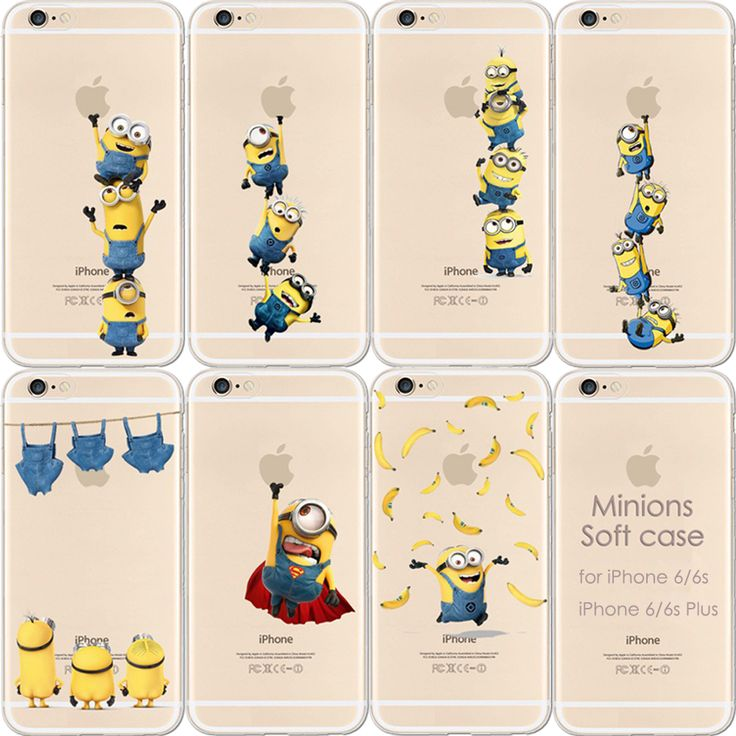 Akcoo Premium Soft TPU Cases for iPhone 6 6s Minions Cute case for i5 case iPhone 6s Plus cases