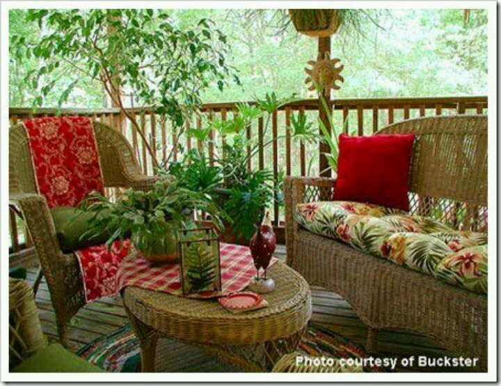 Tropical Porch This Type Of Wicker Easily Available