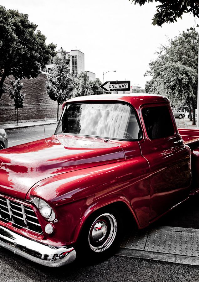 Red Chevy truck---- my favorite color