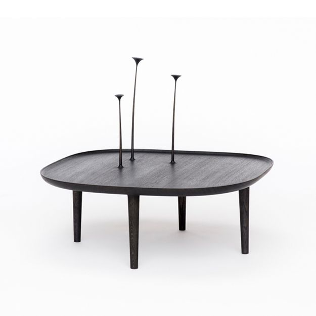 FIORI TABLE 80 X 80 CM BLACK