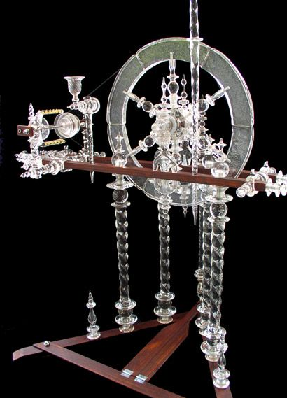 Andy Paiko Glass - Spinning Wheel  Fully functional glass spinning wheel