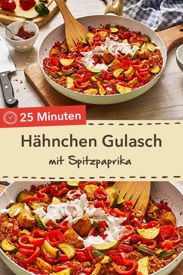 Hähnchen Gulasch mit Spitzpaprika | Recipe in 2019 | Rezepte für ...