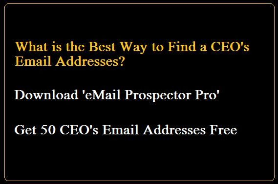 What is the Best Way to Find CEO Email Addresses from