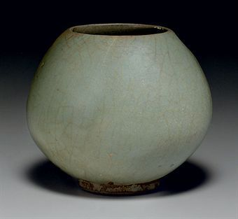 A rare green Junyao bud-form waterpot. Song-Jin Dynasty, 12th-13th century. Photo: Christie´s Images Ltd 2010