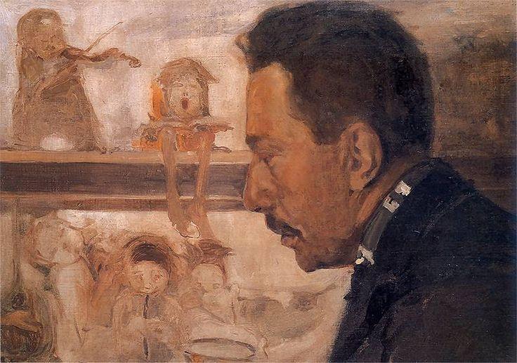 Portret muzyka Bolesława Raczyńskiego.