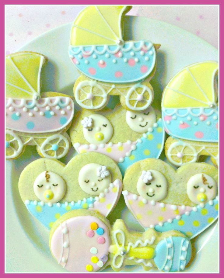 Baby shower cookies sweet dough twins pinterest for Baby shower decoration ideas for twin boys