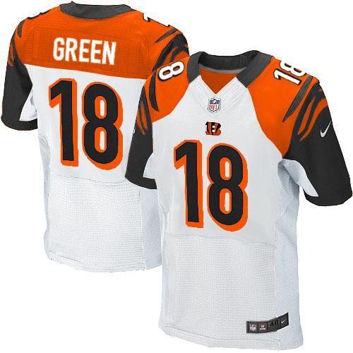 ... Nike NFL Cincinnati Bengals 18 A.J. Green Elite White Road Jersey Sale  ... 464807d1a