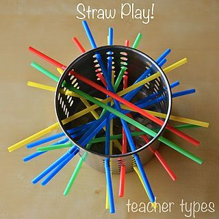 Fun with Straws | Simple Toddler Play | teacher types | Bloglovin