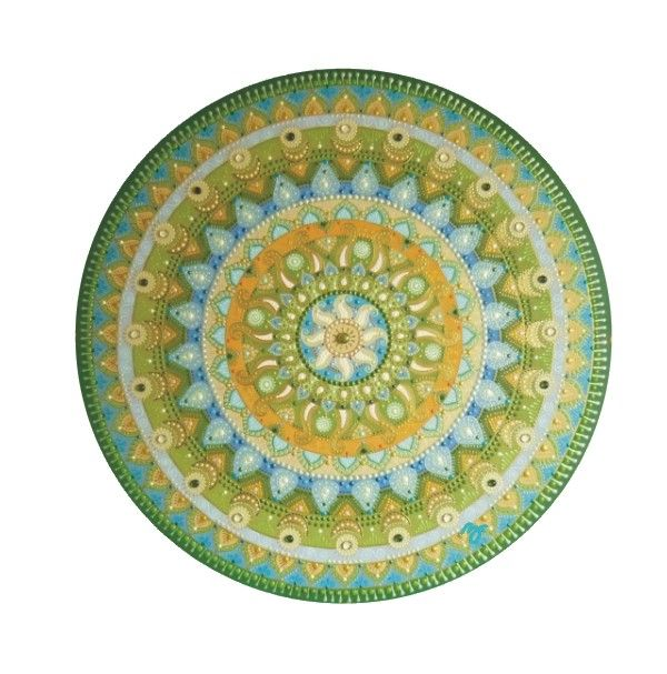 green-blue-yellow Sun mandala