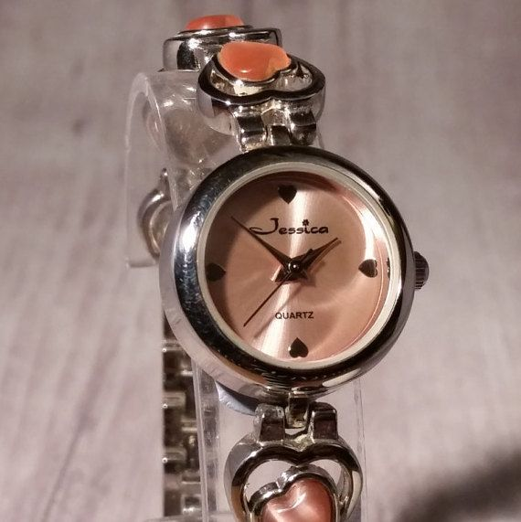Orange Heart Women's Watch. Vitrail Watch. Amber Watch. Heart Watch. Womens Orange Watch. Orange Heart Charm. Orange Jewelry. Jessica