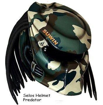 Predator Helmet Street Fighter Army DOT Approved | adi075777 -  on ArtFire