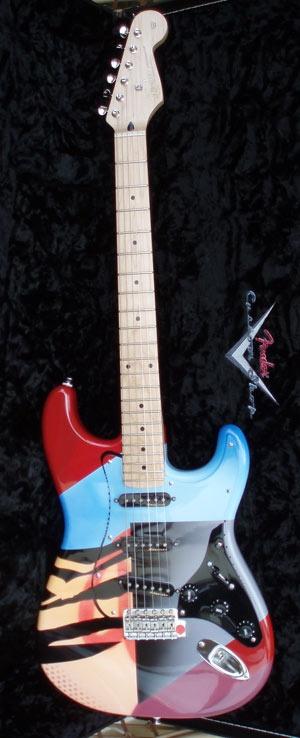 """Built byStraffiti's Guitars"" - Airbrush artist Colin McKay."