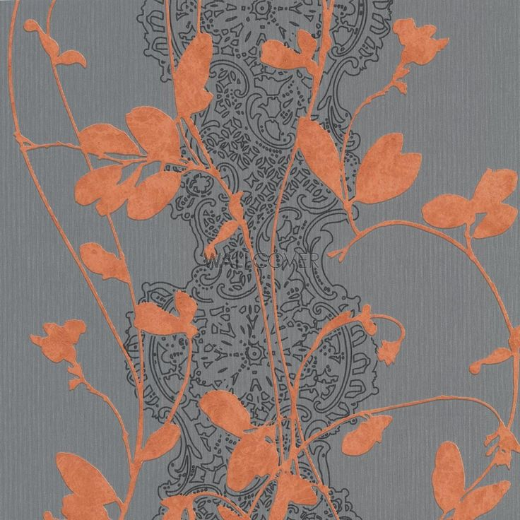Sceno – Erismann non-woven wallpaper  – Colors in orange, terracotta, grey, silver now at wallcover.com! ✔ Fast and secure Delivery ✔ Free Shipping for an Order Value over 200€